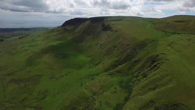 Aerial of the Antrim Hills / Ballygally, Northern Ireland