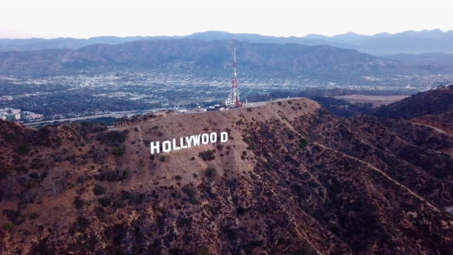 Aerial of the Valley Behind the Hollywood Sign