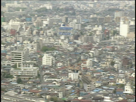 aerial of tokyo cityscape - 1990 stock videos & royalty-free footage