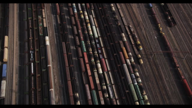 aerial of train depot in novosibirsk, siberia, russia - shunting yard stock videos and b-roll footage