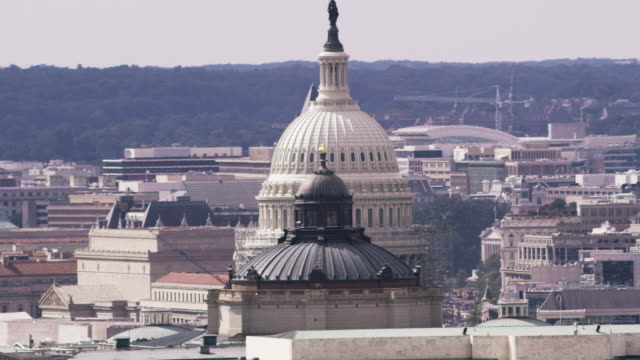 Aerial of United States Capitol Building, Washington D.C.