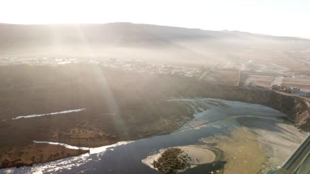Aerial of Village in Baja Mexico