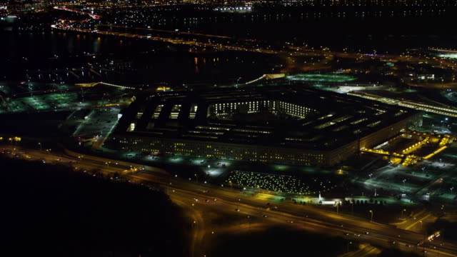aerial of washington dc - the pentagon stock videos & royalty-free footage