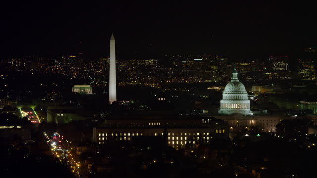 aerial of washington dc - capitol building washington dc stock videos & royalty-free footage