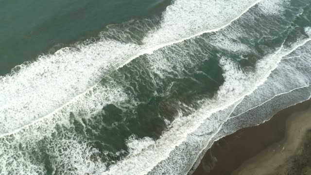 aerial of waves - uruguay stock videos & royalty-free footage