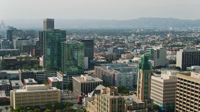 aerial of westlake looking towards west hollywood - west hollywood stock videos & royalty-free footage