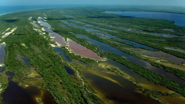 Aerial Of Wetlands At Celestun Biosphere Reserve