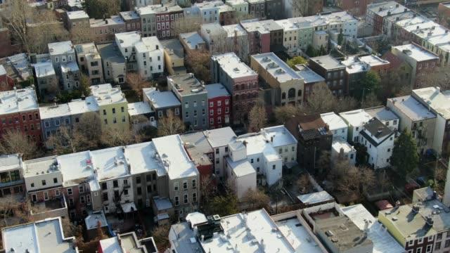 Aerial of Williamsburg, Brooklyn