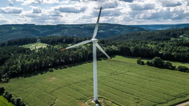 Aerial of Wind Turbine - Alternative Energy