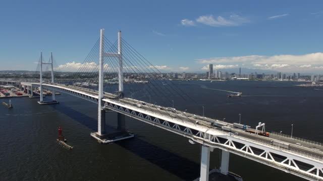 Aerial of Yokohama Bay Bridge