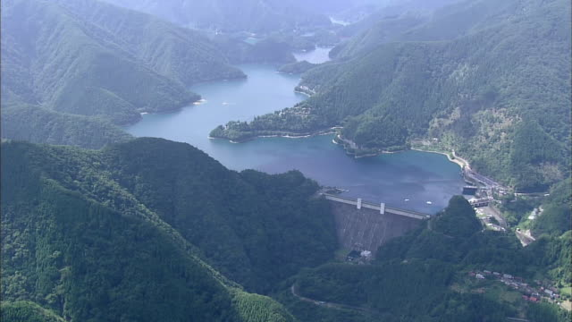 Aerial Ogochi Dam in Tokyo