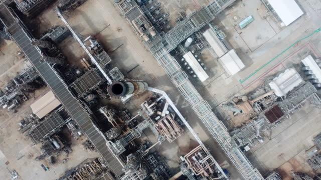 空中石油プラント、パイプライン - ガソリン点の映像素材/bロール