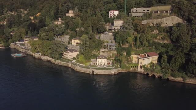 aerial, old buildings on italy coast - western europe stock videos & royalty-free footage