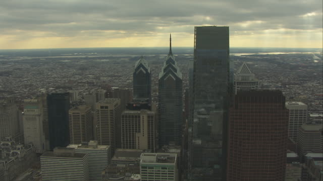 Aerial Orbit Philadelphia City