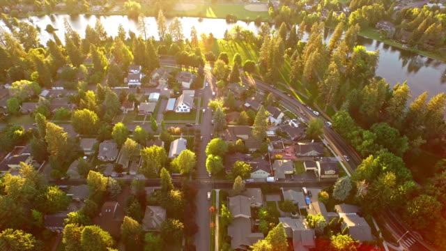 空から見たオレゴンベンド - オレゴン州点の映像素材/bロール