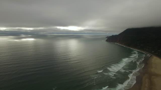 空から見たビーチオレゴンキヤノン