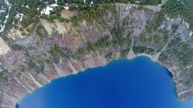 vídeos y material grabado en eventos de stock de antena oregon crater lake - parque nacional crater lake