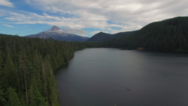 aerial oregon lost lake - cascade range stock videos & royalty-free footage