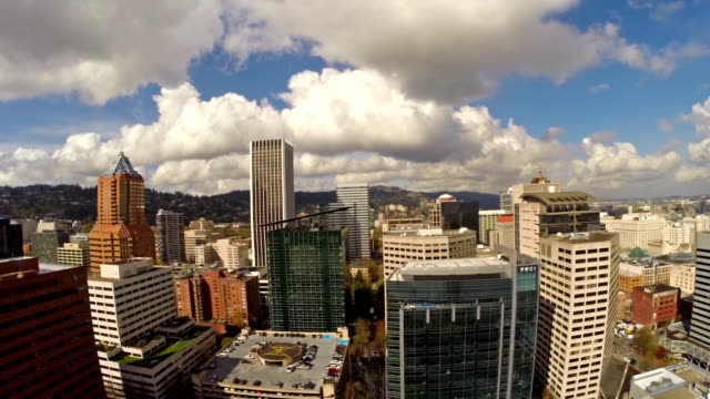 aerea oregon portland - portland oregon video stock e b–roll