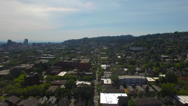 aerial oregon portland - portland oregon stock videos & royalty-free footage