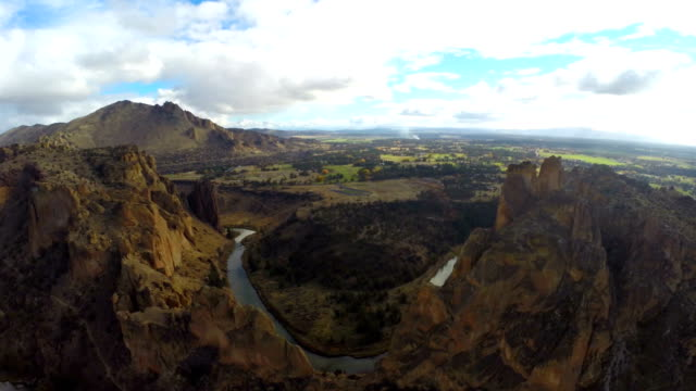 Aerial Oregon Smith Rocks