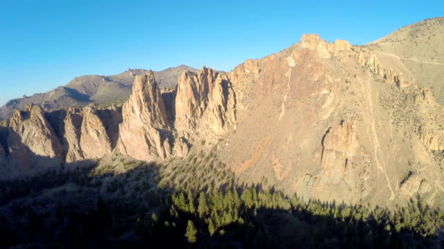 aerial oregon smith rocks - oregon us state stock videos & royalty-free footage