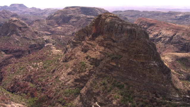 """aerial over arid rocky landscape, madagascar - """"bbc natural history"""" stock videos & royalty-free footage"""