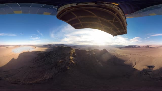 360 Aerial Over Deserts Of Namibia