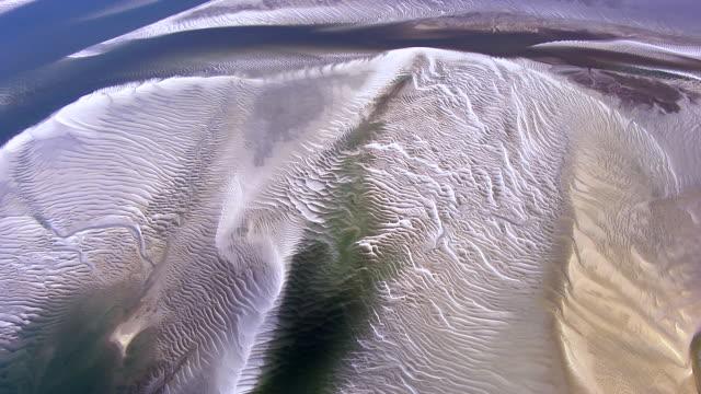 aerial over estuary river delta - estuary stock videos & royalty-free footage