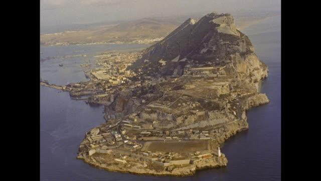 aerial over gibraltar - gibraltar bildbanksvideor och videomaterial från bakom kulisserna