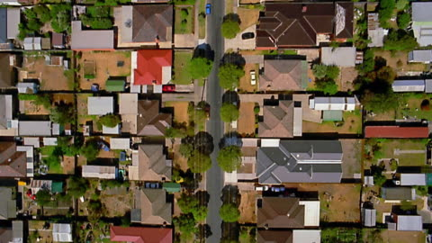 aerial over houses / melbourne - house stock videos & royalty-free footage