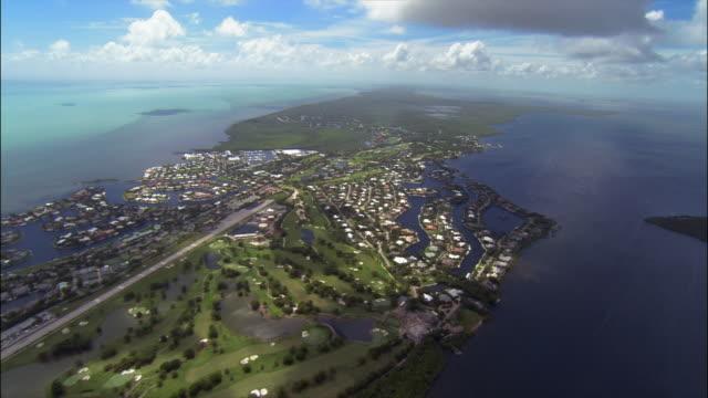 aerial over key largo/ florida keys - the florida keys stock videos & royalty-free footage