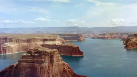 aerial over lake powell / utah - lake powell stock videos & royalty-free footage
