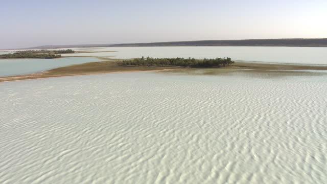 "stockvideo's en b-roll-footage met aerial over lake tsimanampetsotsa, madagascar - ""bbc natural history"""
