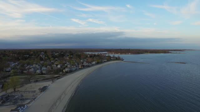 aerial over ocean, 4k - coastline stock videos & royalty-free footage