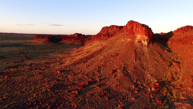 aerial over outback landscape and rocky ridges - outback stock videos & royalty-free footage