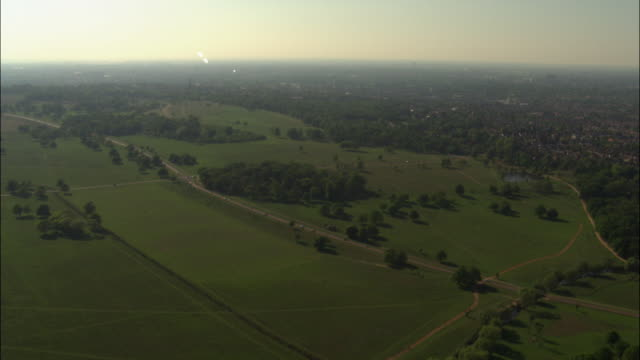 Aerial over Richmond Park, London, UK