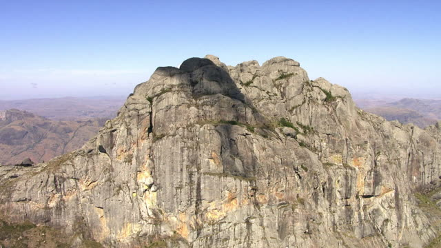 "stockvideo's en b-roll-footage met aerial over rocky peak, madagascar - ""bbc natural history"""