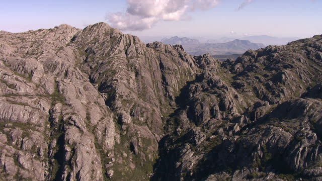 "stockvideo's en b-roll-footage met aerial over rocky peaks, madagascar - ""bbc natural history"""