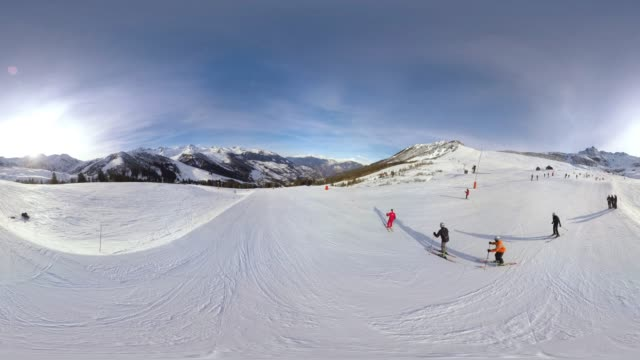 360 Aerial Over Ski Trails In French Alps