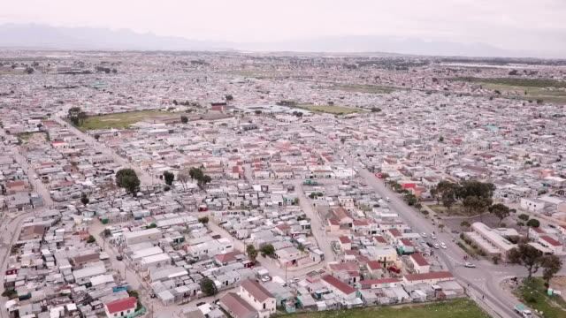 aerial over south african township - cape town stock videos & royalty-free footage
