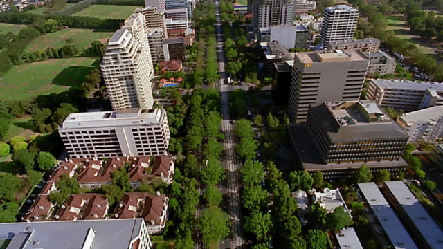 aerial over st kilda road / melbourne - 2003 stock videos and b-roll footage