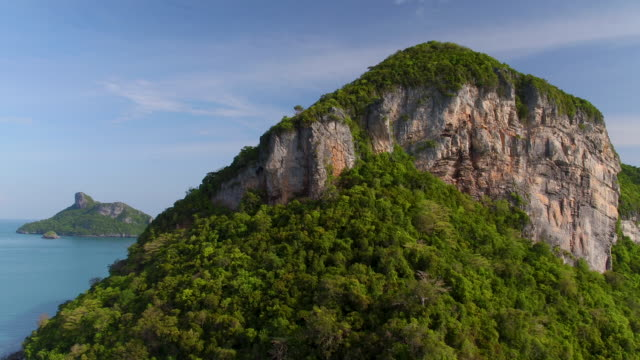 aerial over thailand islands - island stock videos & royalty-free footage