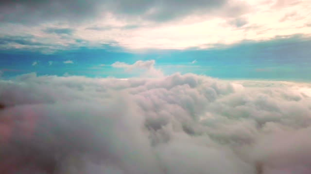 aerial over the cloud - covering stock videos & royalty-free footage