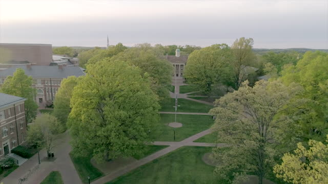 aerial over the university of north carolina in the spring - pinnacle stock videos & royalty-free footage