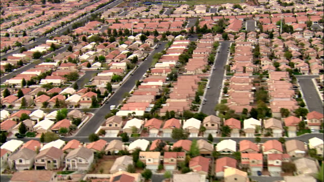 Aerial over tract housing / Las Vegas, Nevada