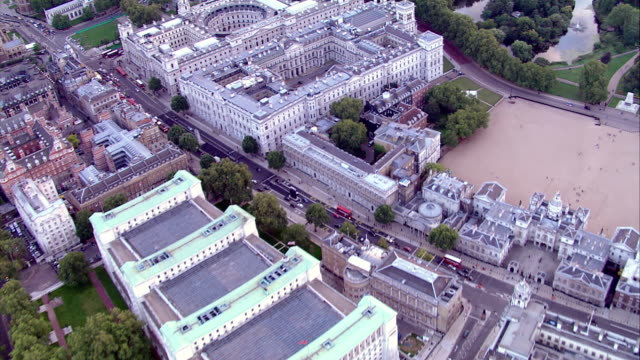 hd aerial over whitehall, london, uk - whitehall london stock videos & royalty-free footage