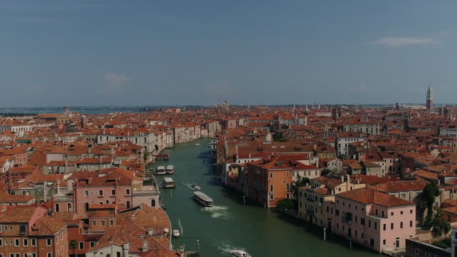 aerial overhead of  grand canal, venice, italy - stock video - mediterranean culture stock videos & royalty-free footage