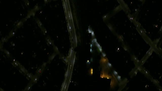 aerial overhead view london residential neighborhood at night - residential district stock videos & royalty-free footage