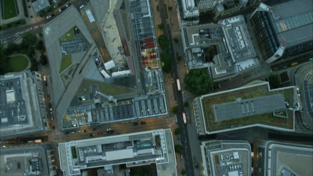 Aerial overhead view St Paul's Cathedral London UK